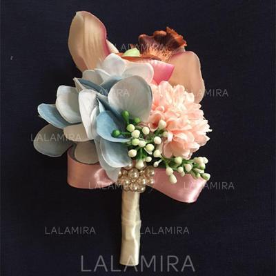 "Boutonniere Wedding Satin 3.94""(Approx.10cm) 3.94""(Approx.10cm) Wedding Flowers (123189466)"