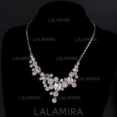 Necklaces Alloy/Rhinestones Lobster Clasp Ladies' Gorgeous Wedding & Party Jewelry (011167253)