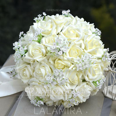 "Bridal Bouquets/Bridesmaid Bouquets Round Wedding PE 11.8""(Approx.30cm) Wedding Flowers (123188818)"