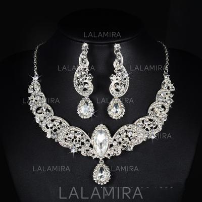 Jewelry Sets Alloy/Rhinestones Lobster Clasp Pierced Ladies' Wedding & Party Jewelry (011167247)