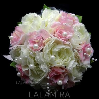 "Bridal Bouquets Round Wedding/Party Satin 8.66""(Approx.22cm) Wedding Flowers (123188209)"