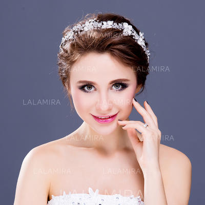 """Headbands Wedding/Special Occasion/Party Crystal/Rhinestone/Silver Plated 12.60""""(Approx.32cm) 1.97""""(Approx.5cm) Headpieces (042154666)"""