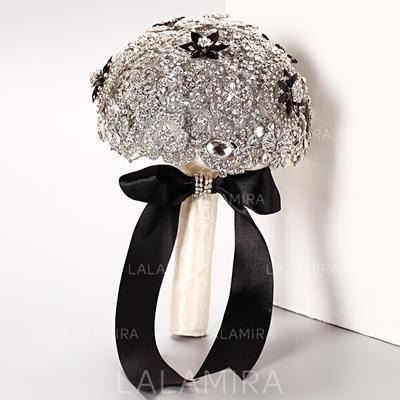 Llamativo Redondo Crystal/Rhinestone Ramos de novia - (123069300)
