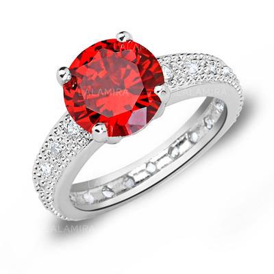 Rings Zircon/Platinum Plated Ladies' Beautiful Wedding & Party Jewelry (011166712)