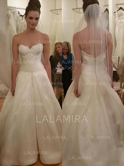 Cetim De baile Longos Coração Vestidos de noiva (002212229)