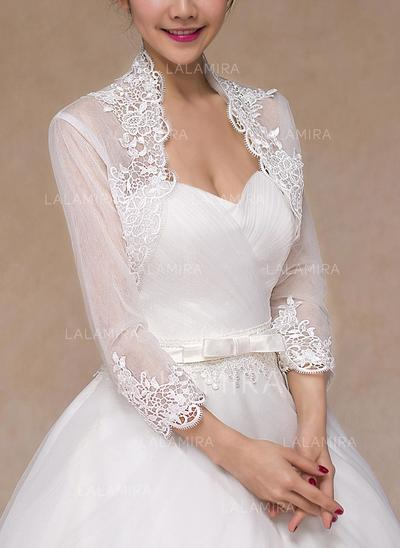 Wrap Wedding Lace Long Sleeve Other Colors Wraps (013149722)