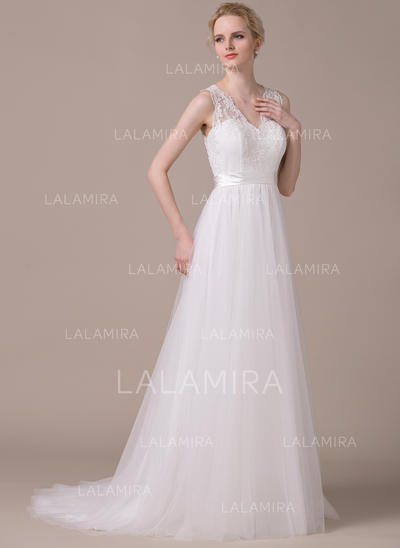 Delicate Tulle Wedding Dresses With A-Line/Princess Sweetheart (002210614)