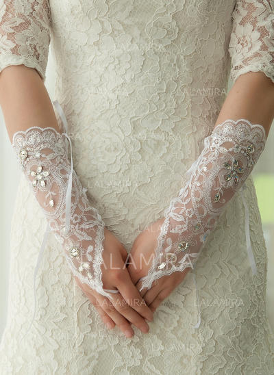 Lace Ladies' Gloves Elbow Length Bridal Gloves Fingerless Gloves (014192210)
