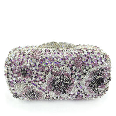Clutches/Luxury Clutches Wedding/Ceremony & Party Crystal/ Rhinestone/Alloy Magnetic Closure Pretty Clutches & Evening Bags (012186164)