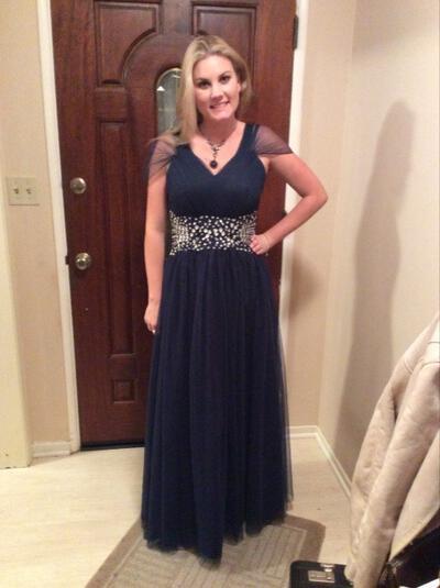 Corte A/Princesa Escote en V Tul Precioso Vestidos de madrina (008212787)