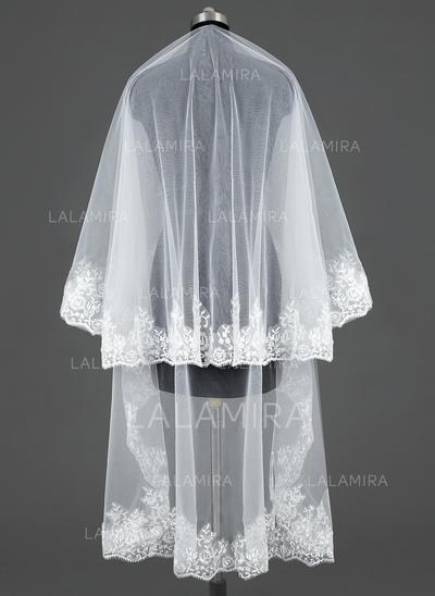Velos de novia capilla Tul Uno capa Estilo clásico con Con Aplicación de encaje Velos de novia (006031079)