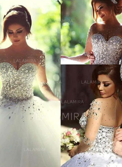 35387159 Luxurious Ball-Gown With Tulle Wedding Dresses (002144587). Loading zoom