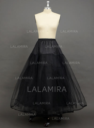 Petticoats Floor-length Tulle Netting 3 Tiers Wedding/Special Occasion Petticoats (037190755)