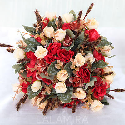 Bridal Bouquets/Bridesmaid Bouquets Free-Form Wedding Fabric Charming Wedding Flowers (123189500)