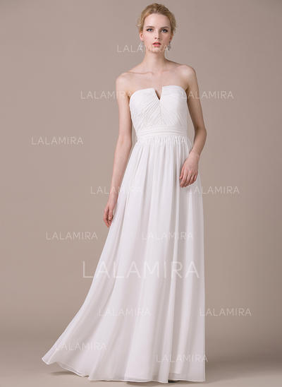 Gorgeous Chiffon Wedding Dresses With A-Line/Princess Strapless (002210617)