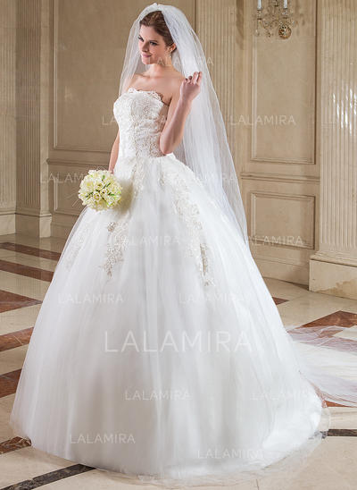 Cathedral Bridal Veils Tulle Two-tier Drop Veil With Cut Edge Wedding Veils (006151615)