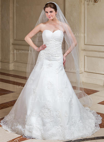 Cathedral Bridal Veils Tulle One-tier Classic With Scalloped Edge Wedding Veils (006151613)