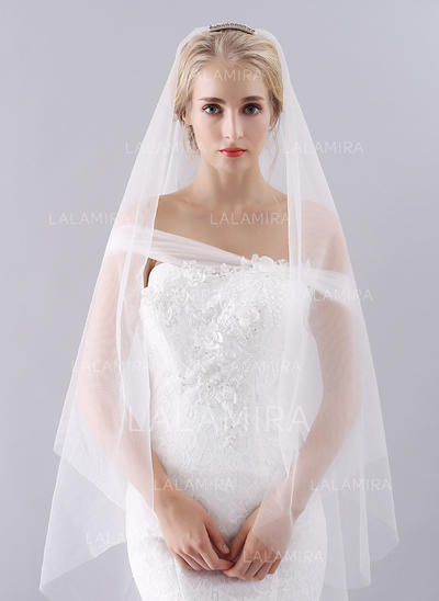 Waltz Bridal Veils Tulle One-tier Classic With Cut Edge Wedding Veils (006152021)