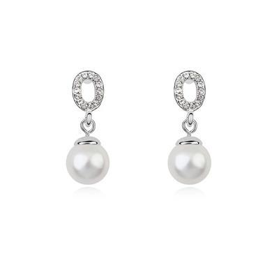 Ohrringe Platin überzogen Perle Durchbohrt Damen Hochzeits- & Partyschmuck (011164514)