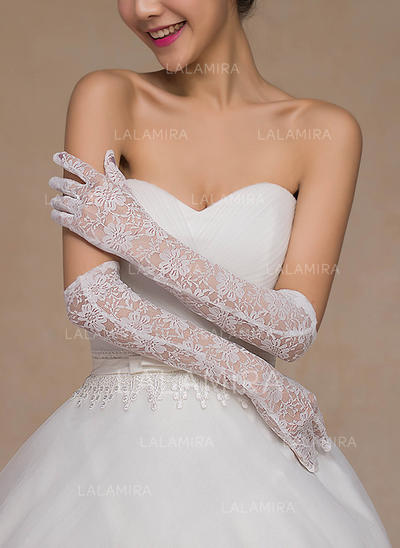 Lace Ladies' Gloves Bridal Gloves Fingertips 40cm(Approx.15.75inch) Gloves (014192125)