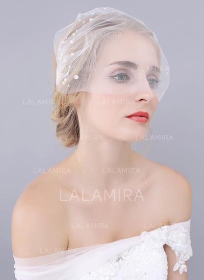Velos colorete Tul Uno capa Estilo clásico con Corte de borde Velos de novia (006104363)