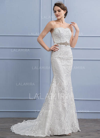 Lace Trumpet/Mermaid With Stunning General Plus Wedding Dresses (002107843)