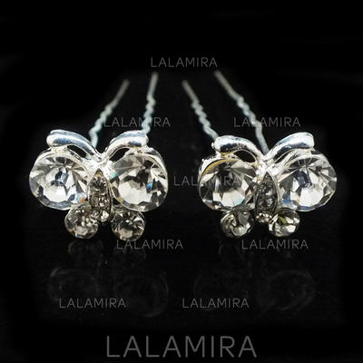"Hairpins Wedding/Special Occasion/Party Alloy/Czech Stones 2.76""(Approx.7cm) 0.78""(Approx.2cm) Headpieces (042156112)"