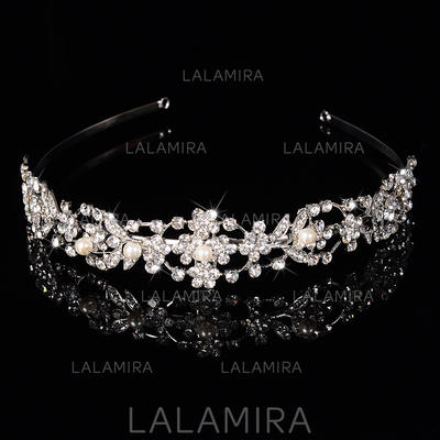 "Tiaras Wedding/Special Occasion/Casual/Outdoor/Party Rhinestone/Alloy/Imitation Pearls 6.3""(Approx.16cm) 1.18""(Approx.3cm) Headpieces (042155774)"
