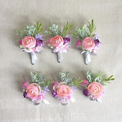 Wrist Corsage/Boutonniere Free-Form Wedding/Party/Casual (set of 2) Wedding Flowers (123190251)