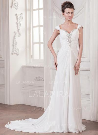 Sexy Chiffon Wedding Dresses With A-Line/Princess Sweetheart (002210611)