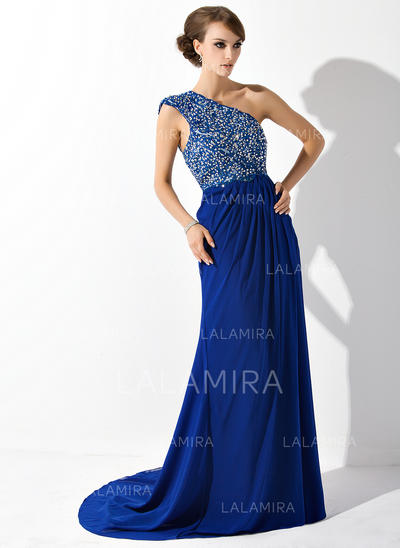 Modern Chiffon One-Shoulder A-Line/Princess Mother of the Bride Dresses (008006081)