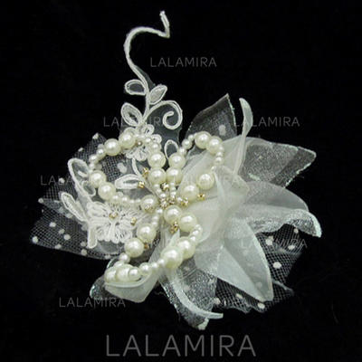 """Flowers & Feathers Wedding/Special Occasion Artificial Silk/Tulle 5.91""""(Approx.15cm) 3.15""""(Approx.8cm) Headpieces (042153067)"""