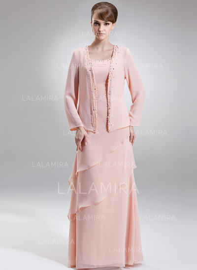 Simple Floor-Length A-Line/Princess Chiffon Mother of the Bride Dresses (008211034)