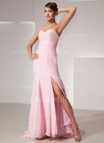 Elegant Chiffon Trumpet/Mermaid Zipper Up Evening Dresses (017014435)