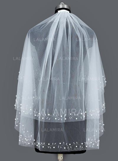 Velare da sposa gomito Tyll Due strati Ovale con Bordo tagliato Veli da sposa (006035453)
