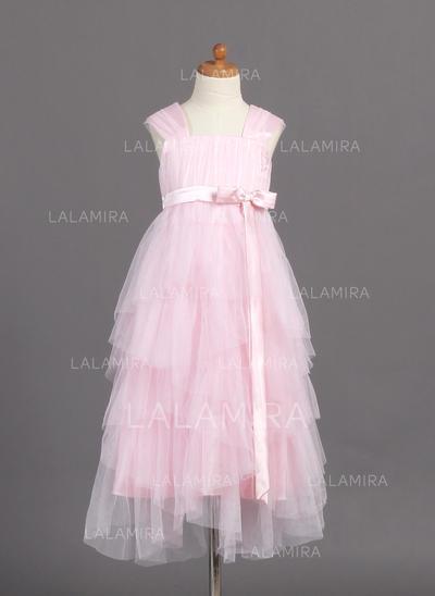 Floor-length Tulle Glamorous Flower Girl Dresses