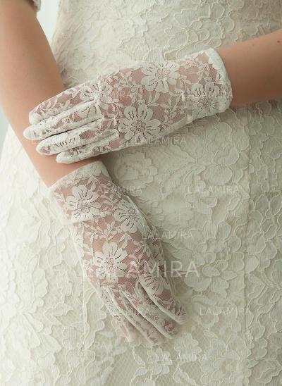 Lace Ladies' Gloves Wrist Length Bridal Gloves Fingertips Gloves (014192204)