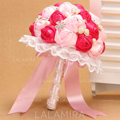 "Bridal Bouquets Wedding Satin 10.24""(Approx.26cm) Color & Style representation may vary by monitor/Due to it is handmade/ slight difference is unavoidable. Wedding Flowers (123188891)"