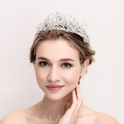 "Tiaras Wedding/Special Occasion/Party Rhinestone/Alloy 14.17""(Approx.36cm) 3.55""(Approx.9cm) Headpieces (042157965)"