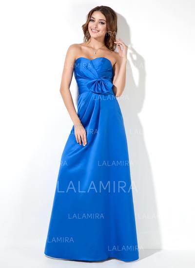 Empire Floor-Length Satin General Plus Bridesmaid Dresses (007000939)