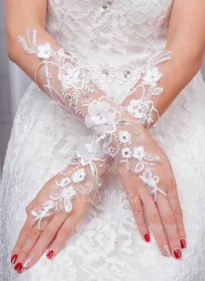 Tulle Ladies' Gloves Bridal Gloves Fingerless 35cm(Approx.13.78inch) Gloves (014192217)