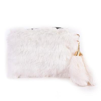 Clutches/Satchel Ceremony & Party Fur/PU Zipper Closure Unique Clutches & Evening Bags (012187914)