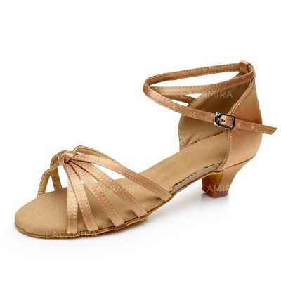 moda firmata e14f7 50865 Per bambini Latino Tacchi Sandalo Raso con Listino alla caviglia Scarpe da  ballo (053092231)