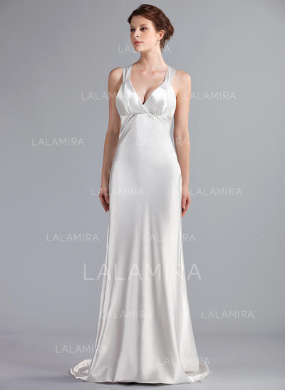 Sleeveless Empire - Charmeuse Wedding Dresses (002210498)