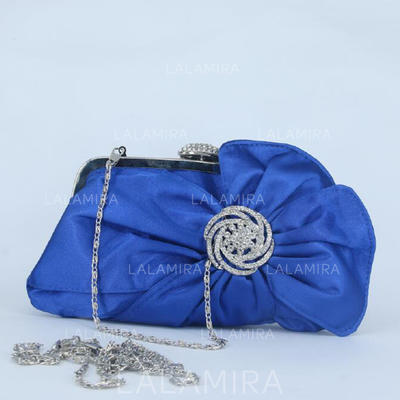 Clutches/Wristlets Wedding/Ceremony & Party/Casual & Shopping Crystal/ Rhinestone Clip Closure Attractive Clutches & Evening Bags (012186711)