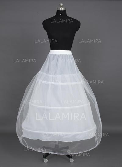 Petticoats Tea-length Nylon/Tulle Netting Ball Gown Slip 1 Tiers Petticoats (037190691)