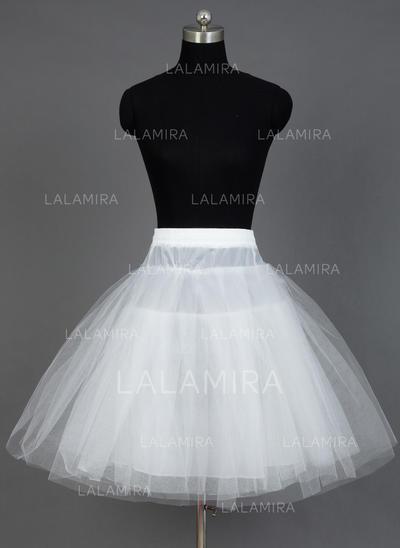 Petticoats Short-length Nylon/Tulle Netting A-Line Slip/Half Slip 3 Tiers Petticoats (037190716)