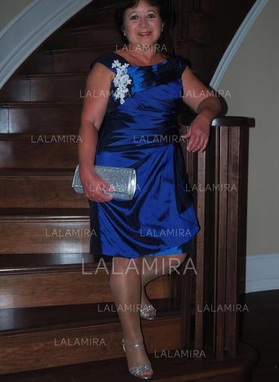 Forme Princesse Col rond Taffeta Le plus récent Robes mère de la mariée (008212775)