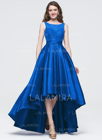 Taffeta Sleeveless Asymmetrical - A-Line/Princess Prom Dresses (018089694)