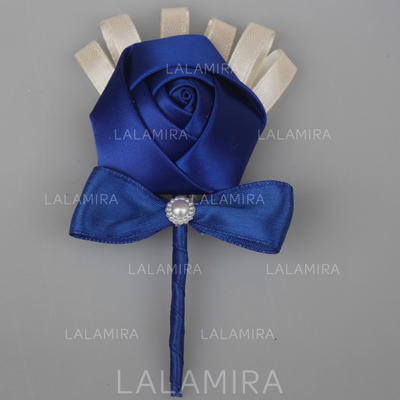 """Boutonniere Free-Form Wedding/Party Satin 2.76""""(Approx.7cm) Wedding Flowers (123190157)"""